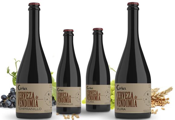Ceriux se hace en La Rioja con vino de las variedades viura y tempranillo