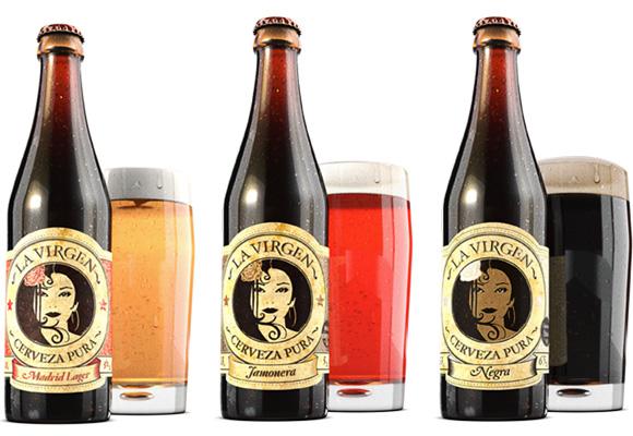 La Virgen es una cerveza negra elaborada en Madrid