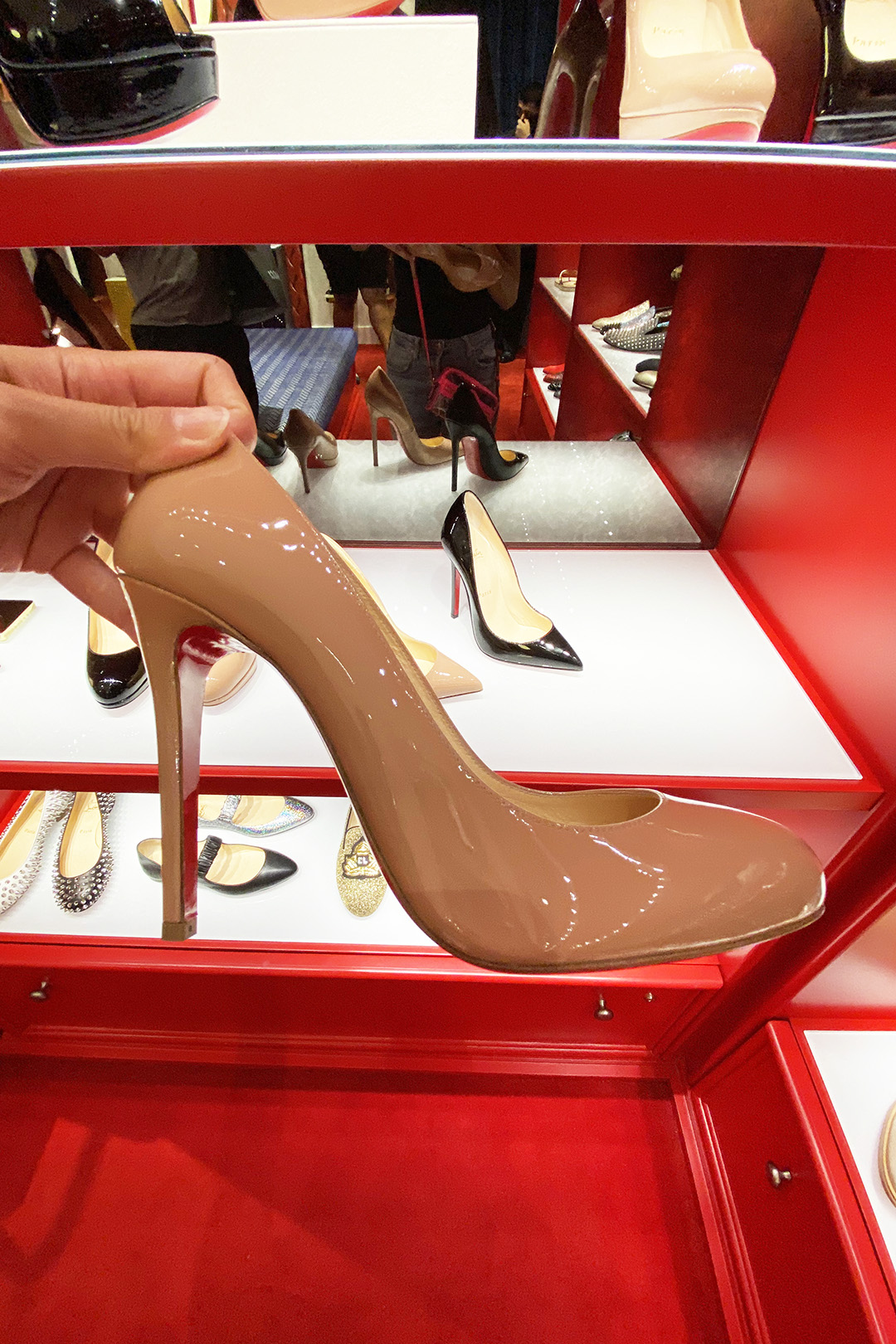 Christian Louboutin Outlet Nude Pumps (The Luxury Lowdown Blog)