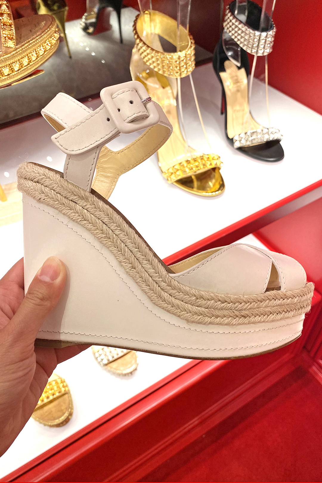Christian Louboutin Outlet Wedges (The Luxury Lowdown Blog)
