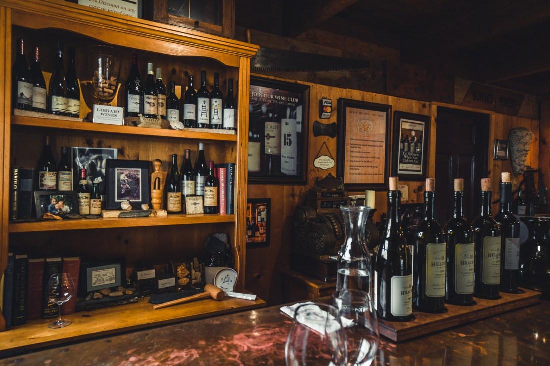 HillCrest Vineyards Wine Display