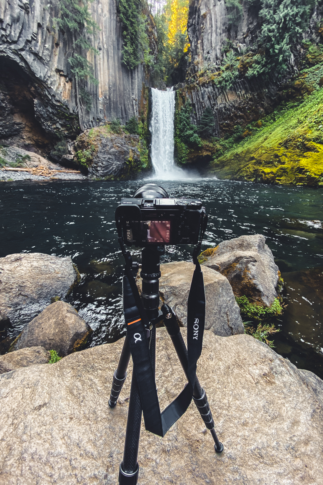 Photography Setup for Toketee Falls