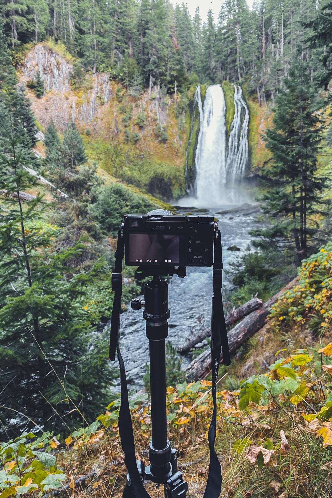 Where My Camera Was Set Up for Lemolo Falls