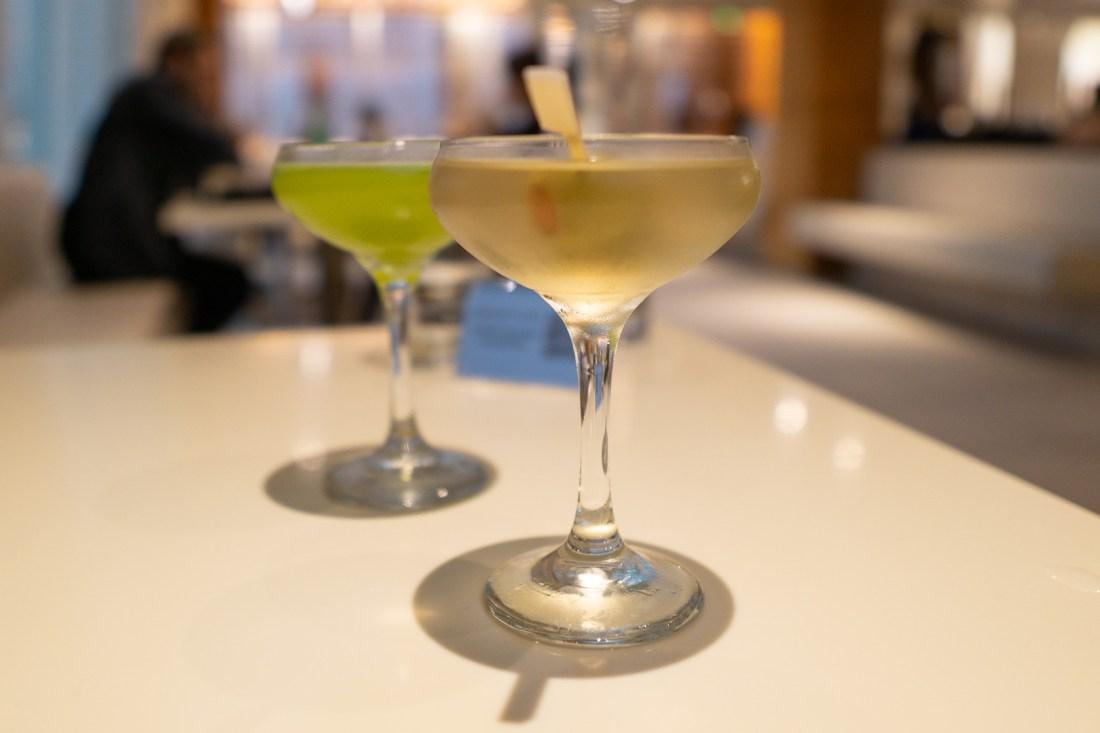 Martinis at Departure Restaurant