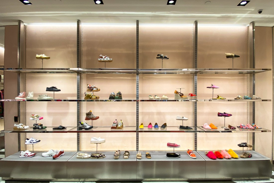 Shoes at the Gucci Outlet