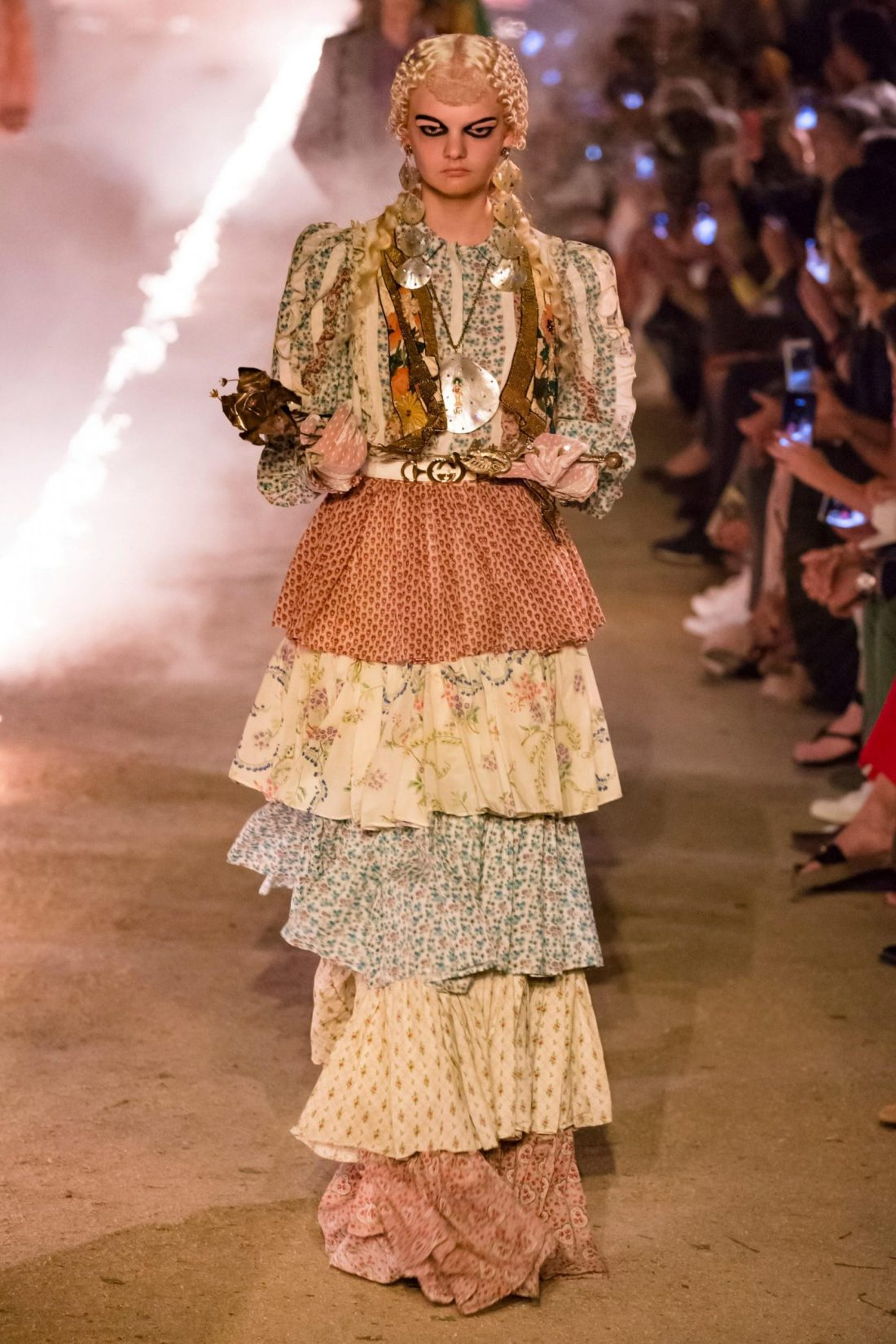 Gucci Tiered Skirt on the Runway