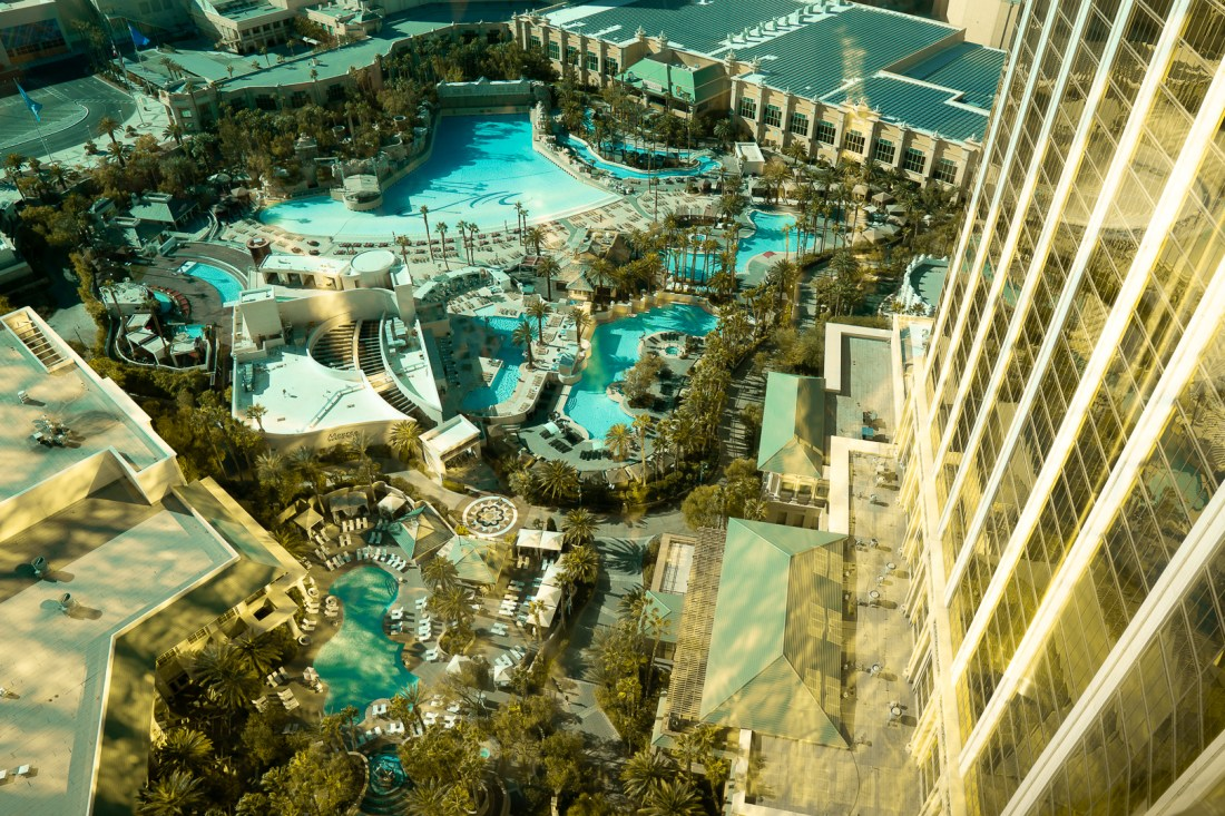 View from our room at Mandalay Bay with Chase LHRC