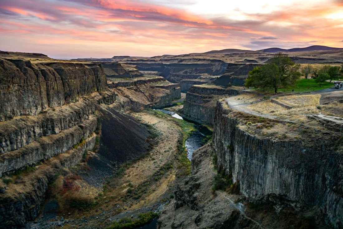 Canyon Overlook at Palouse Falls (Sony Zoom Lens)