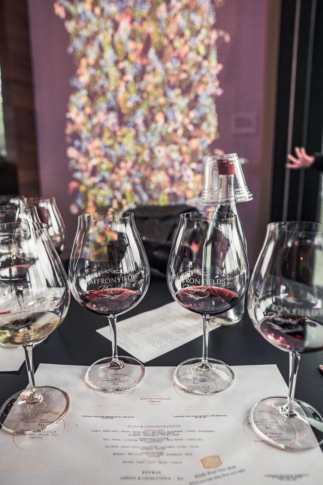 Free Wine Tasting with Alaska Airlines at Saffron Fields Vineyard