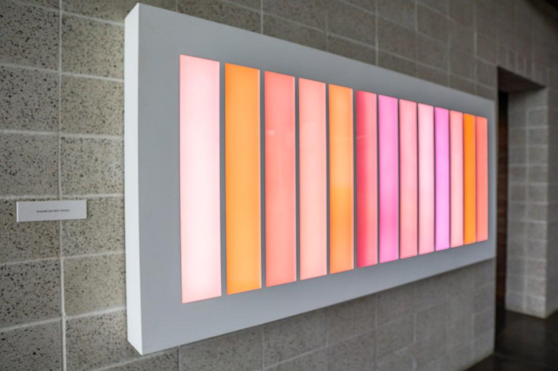 Lighted Art Piece at Saffron Fields