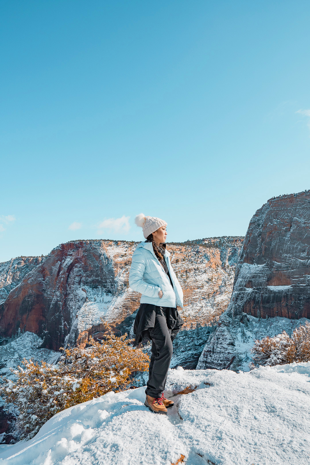 Angels Landing Summit During Winter