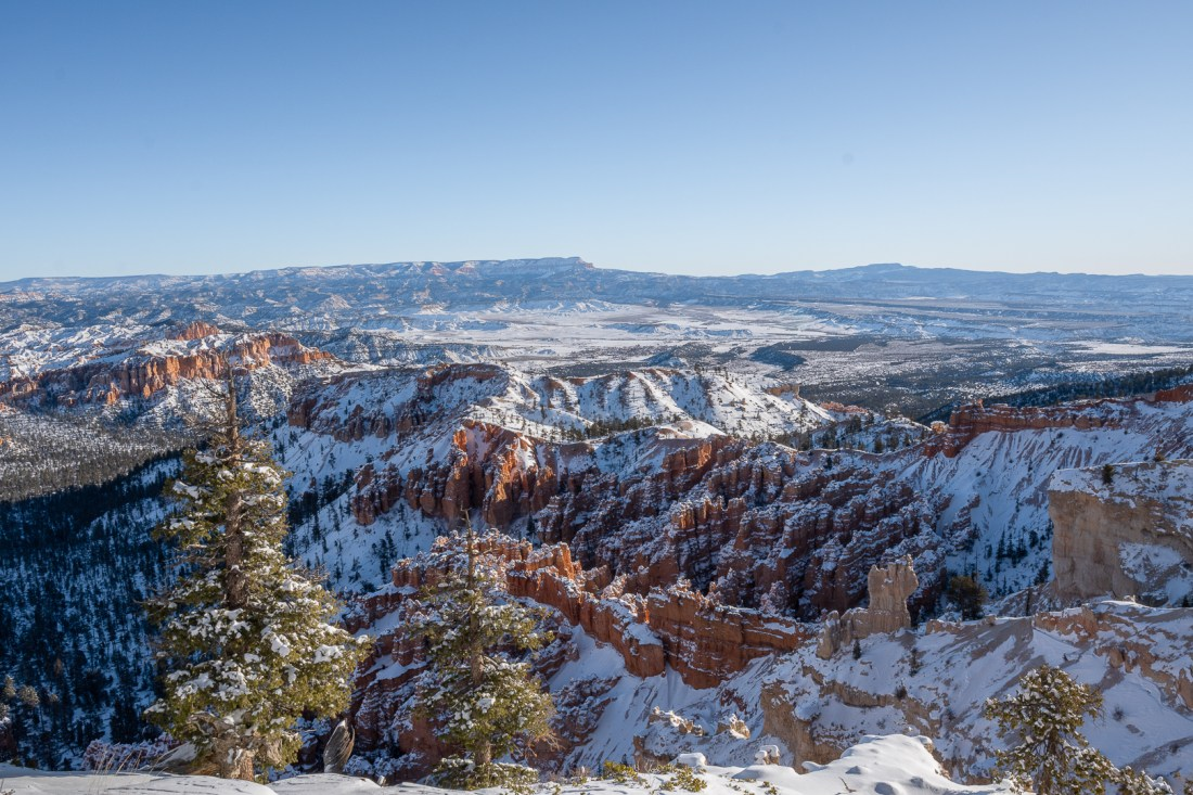 View looking to the right side of the ridge of Bryce Point