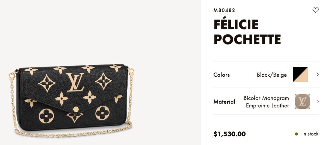 Louis Vuitton Online Félicie Pochette Price