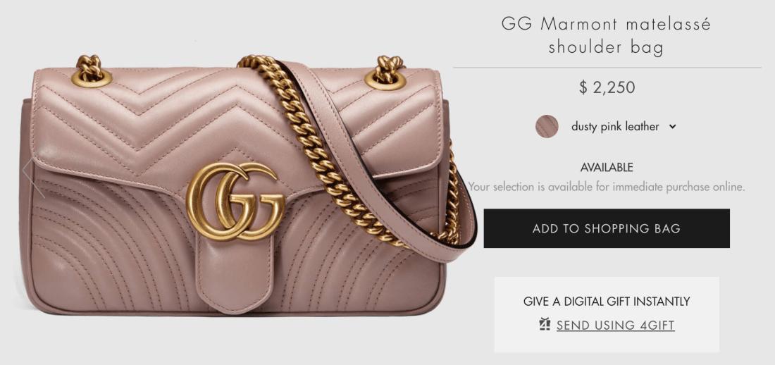 Gucci GG Marmont Matelassé Shoulder Bag Online Price