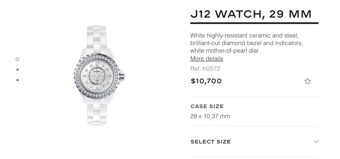 Chanel J12 Watch 29mm Online Price
