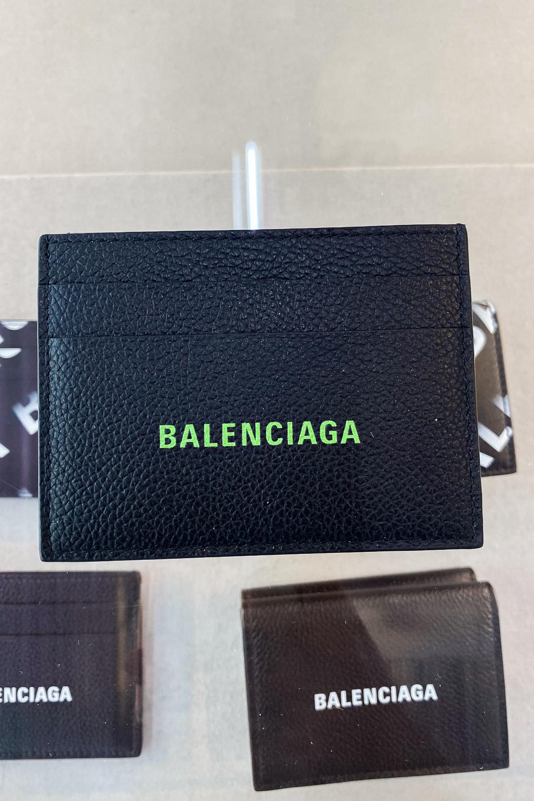 Balenciaga Men's Cash Card Holder in Green/Black