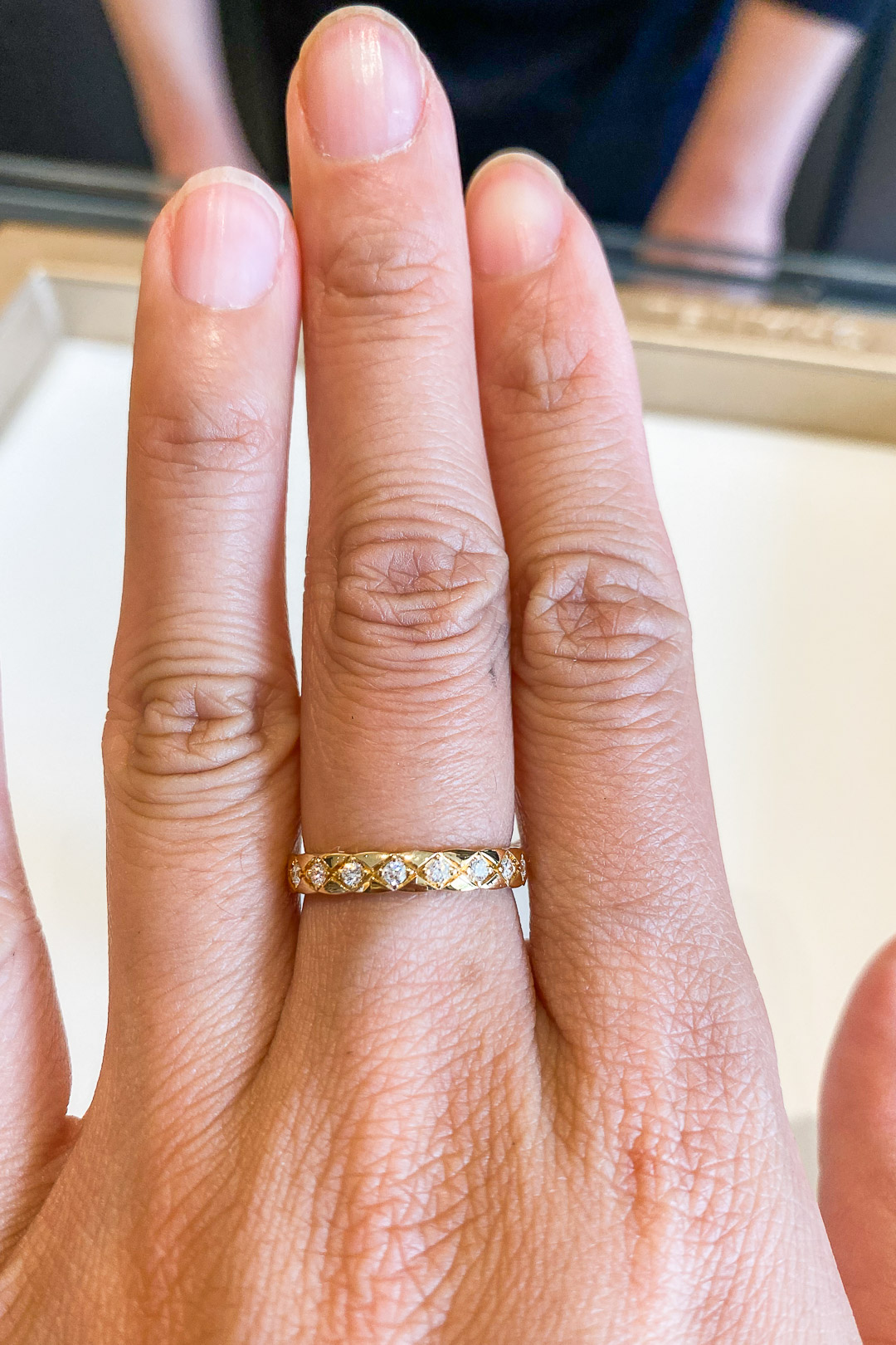 Chanel Coco Crush Ring in Yellow Gold with Diamonds