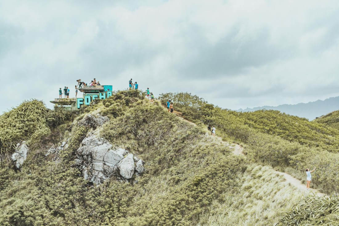 Hike up to Second Pillbox