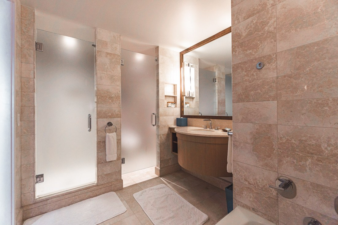 Doors to the Shower and Toilet