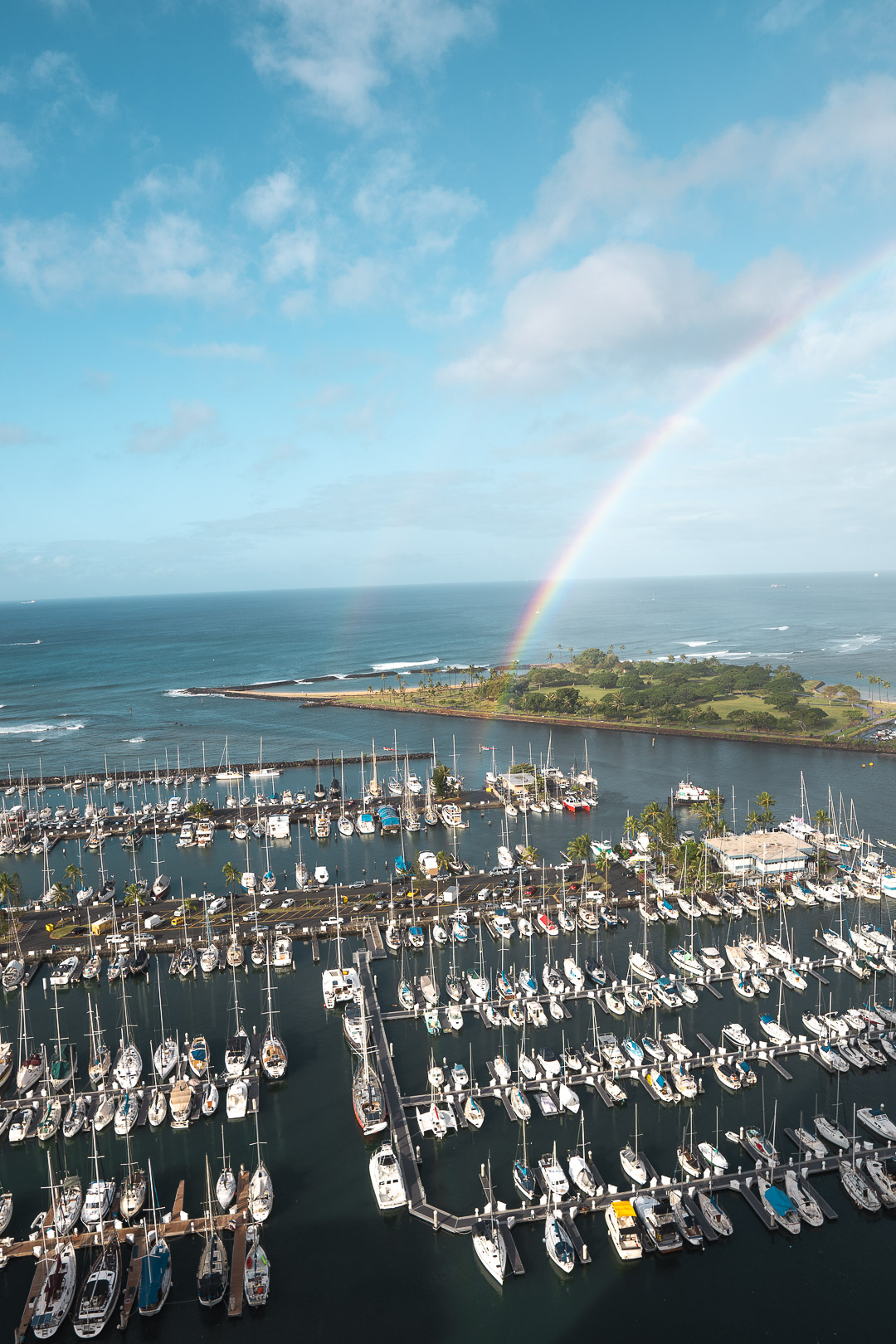 Rainbow over the Marina from our Room