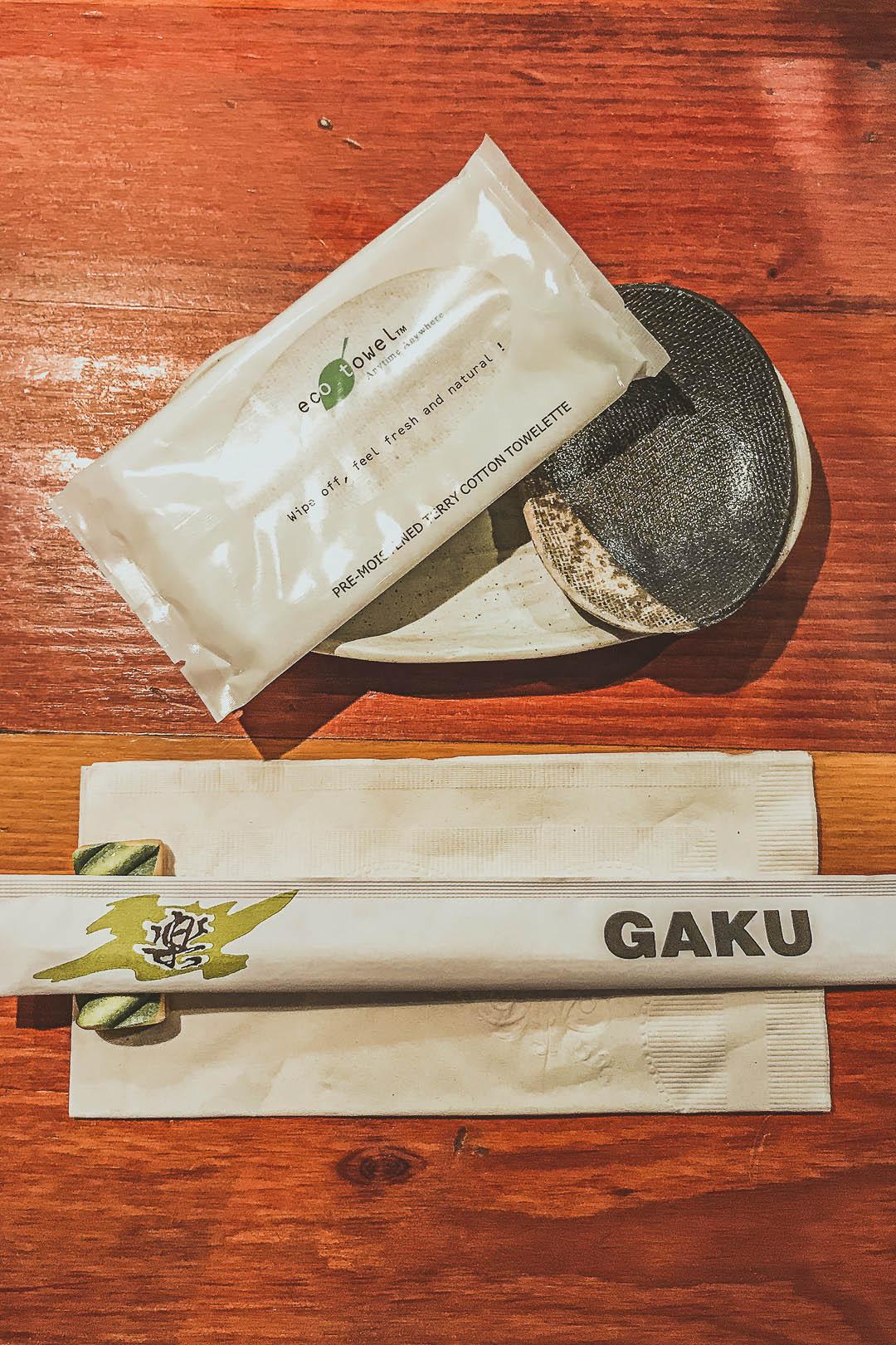 Sushi Izakaya Gaku Place Setting