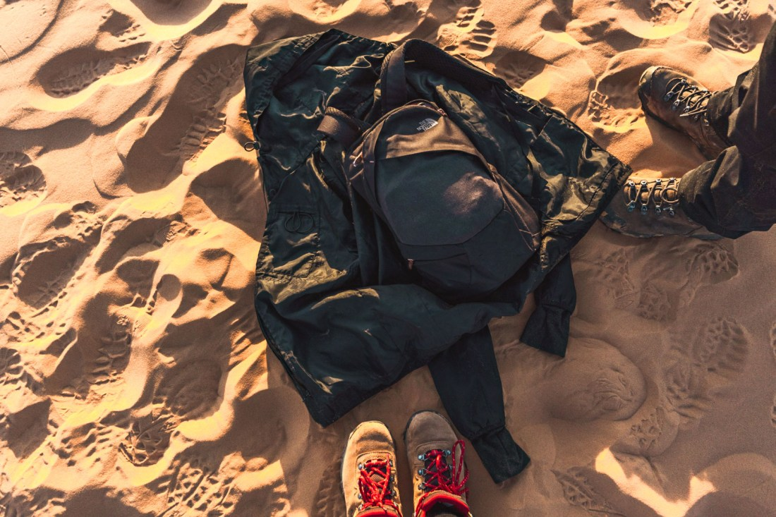 Backpack in the sand