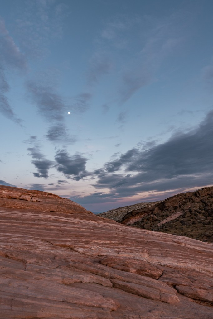 Moon Rising Over Valley of Fire State Park