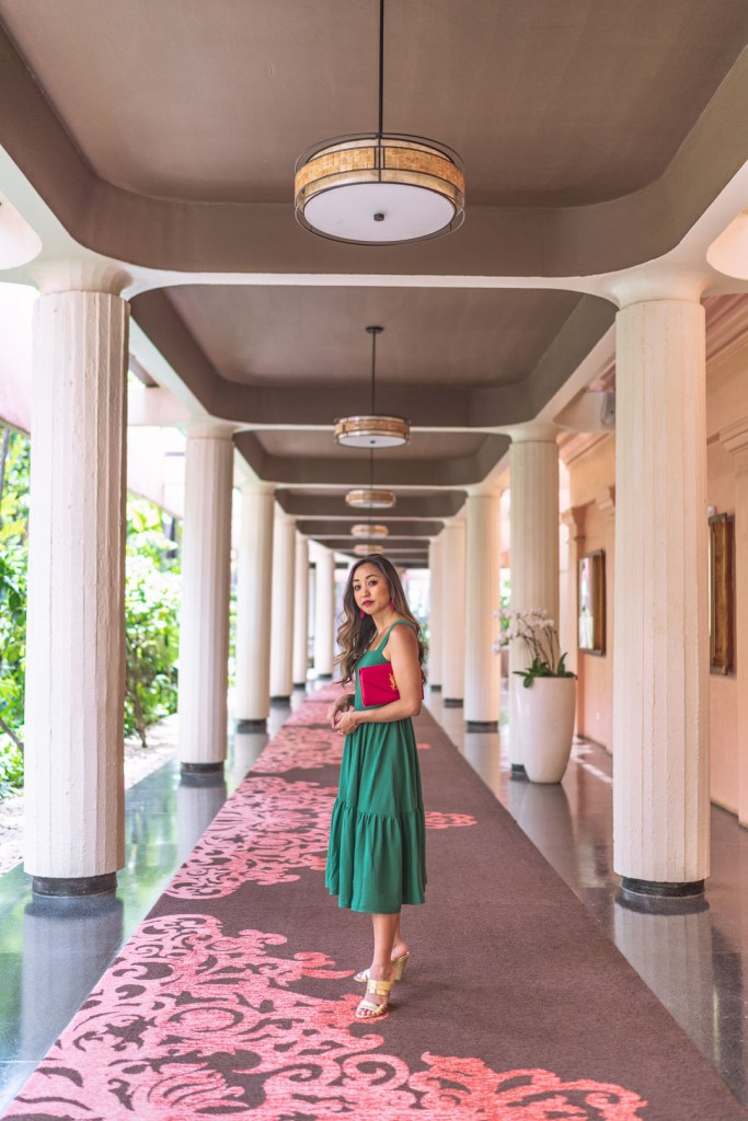 In the Hallways of the Royal Hawaiian Hotel