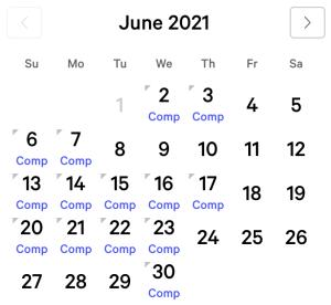 myVEGAS Bellagio June 2021 Comp Calendar