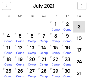 Park MGM myVEGAS Rewards Calendar (July 2021)