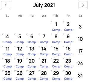 Luxor myVEGAS Rewards Calendar (July 2021)