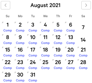 Luxor myVEGAS Rewards Calendar (August 2021)