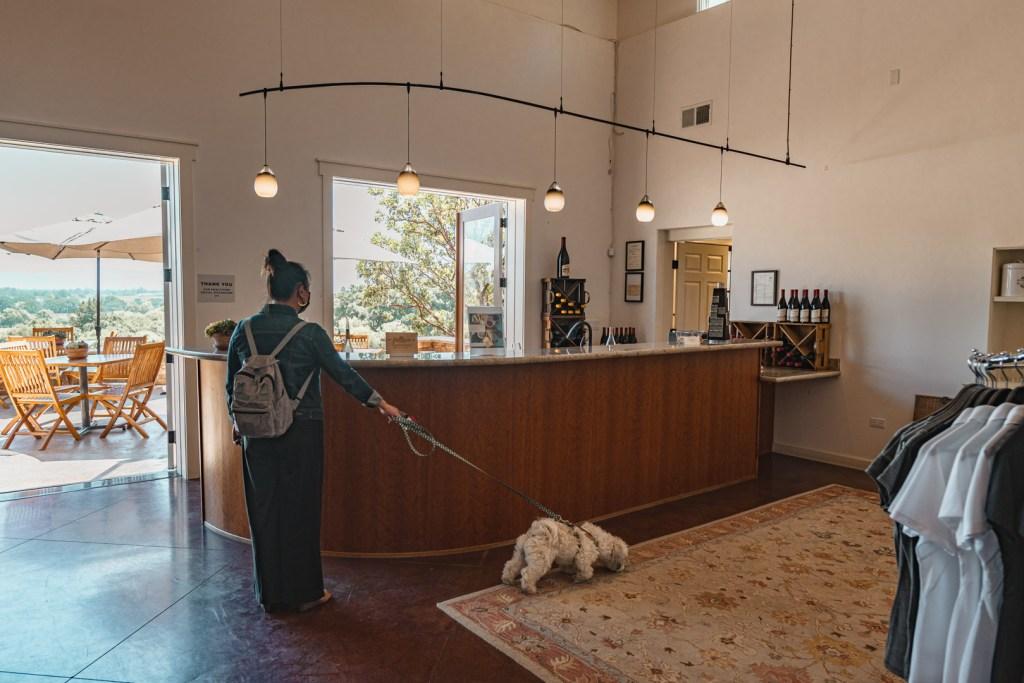 Fog Crest Vineyard's Wine Tasting Bar
