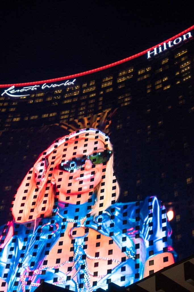Paris Hilton on the Facade