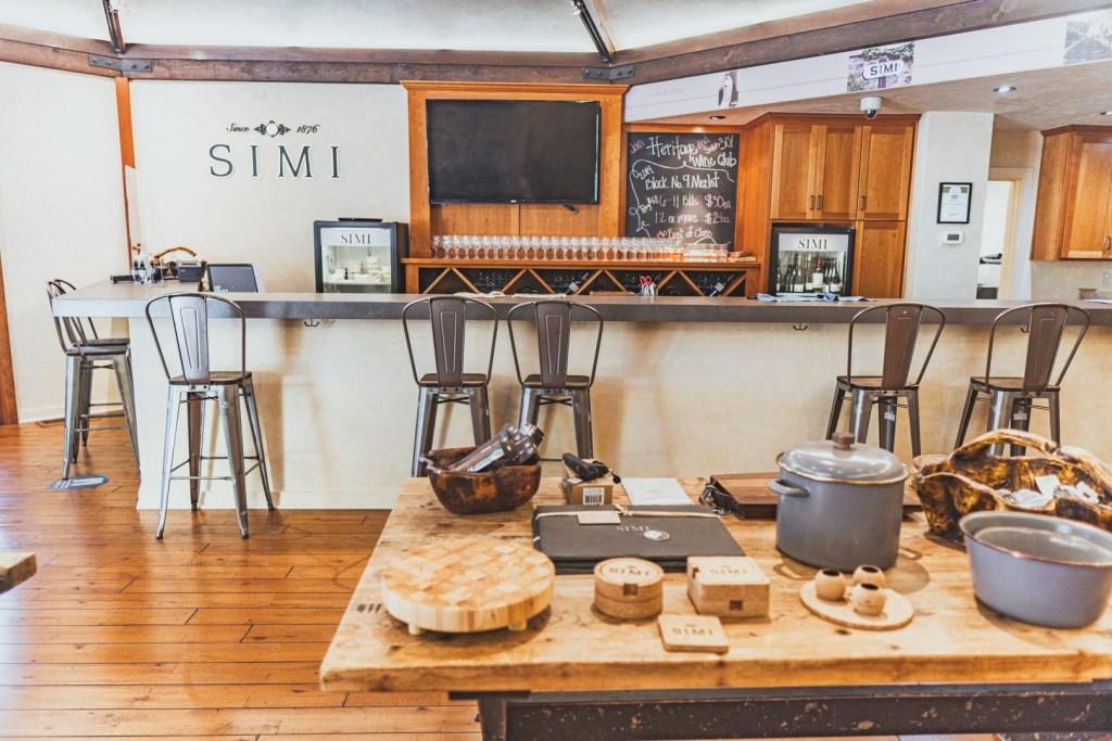 Inside Simi Winery