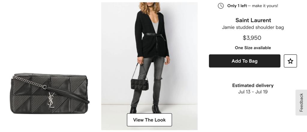 Saint Laurent Jamie Baguette Micro Studded Leather Bag Retail Price