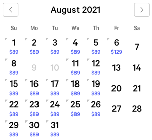 Vdara Exclusive Rates August 2021