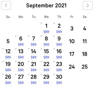 Vdara Exclusive Rates September 2021