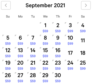 MGM Grand Exclusive Rates September 2021