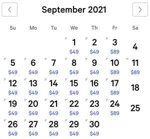 NY NY Exclusive Rates September 2021