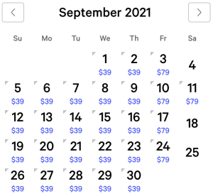 Luxor Exclusive Rates September 2021