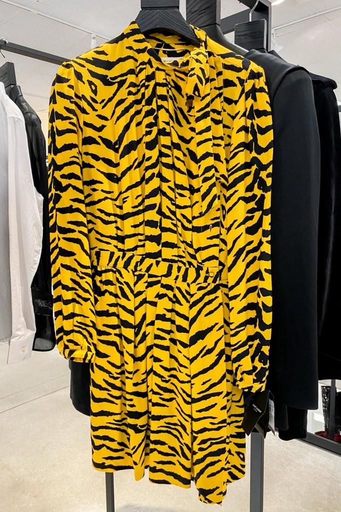 Saint Laurent Tiger Print Mini Dress