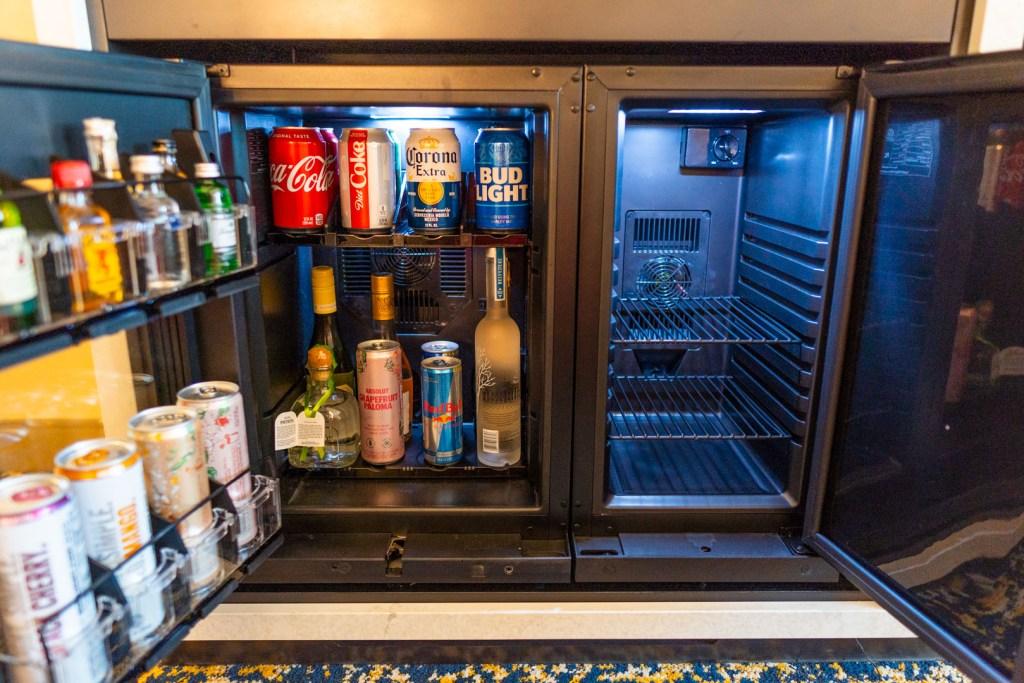 Mini fridge with extra space