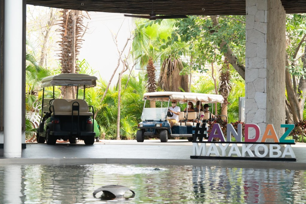 Andaz Mayakoba Golf Carts