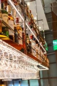 Liquor Display at Night + Market Las Vegas