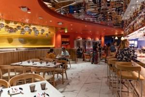 Restaurant Floor at Night + Market Las Vegas