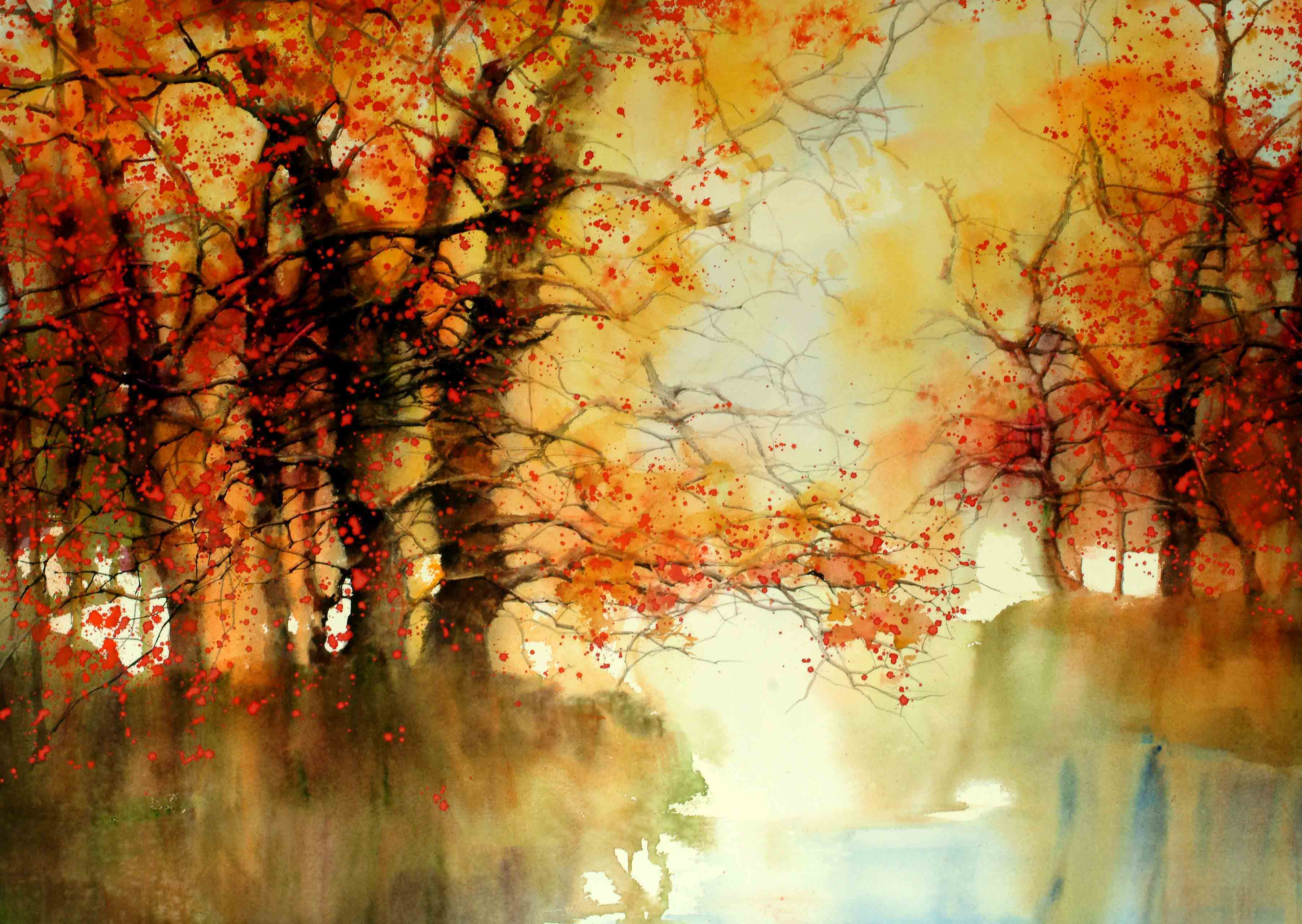 watercolor painting by Z.L. Feng