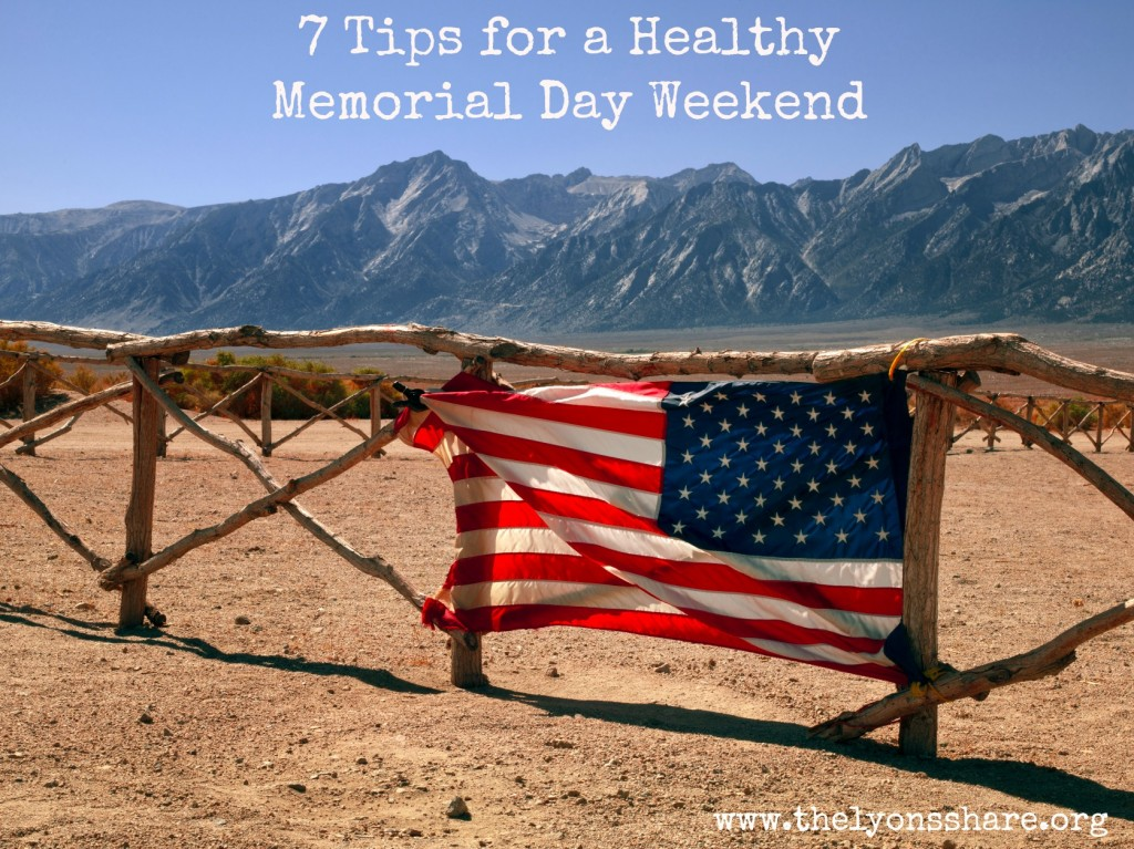 American flag 7 tips for a healthy memorial day weekend