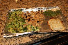 roasted veggies and tilapia