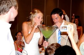 big green drink at wedding